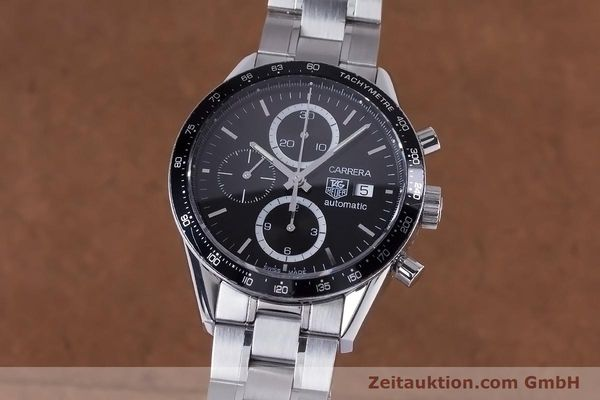 Used luxury watch Tag Heuer Carrera chronograph steel automatic Kal. 16 ETA 7750 Ref. CV2010-3  | 153584 04