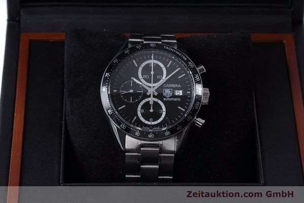Used luxury watch Tag Heuer Carrera chronograph steel automatic Kal. 16 ETA 7750 Ref. CV2010-3  | 153584 07