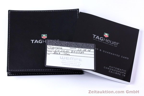 Used luxury watch Tag Heuer Carrera chronograph steel automatic Kal. 16 ETA 7750 Ref. CV2010-3  | 153584 12