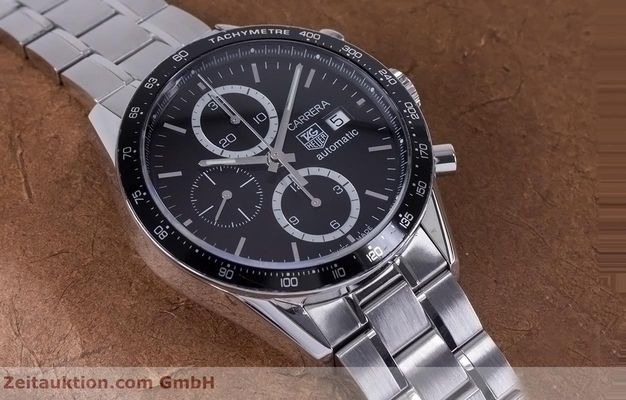 Used luxury watch Tag Heuer Carrera chronograph steel automatic Kal. 16 ETA 7750 Ref. CV2010-3  | 153584 15