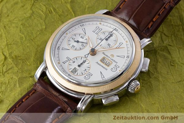 Used luxury watch Maurice Lacroix Masterpiece chronograph steel / gold automatic Kal. ML67 ETA 7750 Ref. 67839  | 153605 01