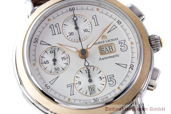 Used luxury watch Maurice Lacroix Masterpiece chronograph steel / gold automatic Kal. ML67 ETA 7750 Ref. 67839  | 153605 02