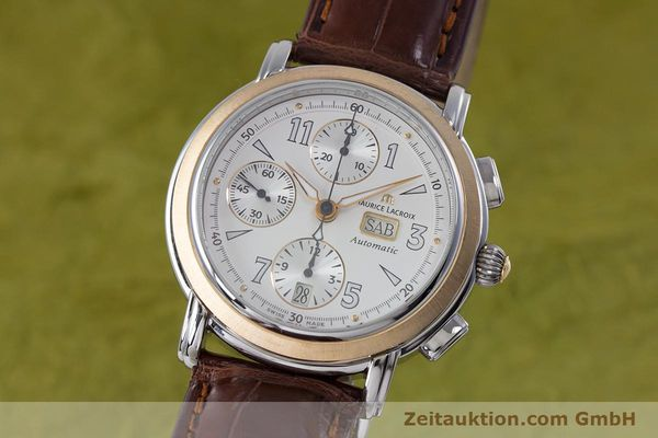 Used luxury watch Maurice Lacroix Masterpiece chronograph steel / gold automatic Kal. ML67 ETA 7750 Ref. 67839  | 153605 04