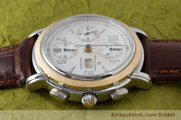 Used luxury watch Maurice Lacroix Masterpiece chronograph steel / gold automatic Kal. ML67 ETA 7750 Ref. 67839  | 153605 05