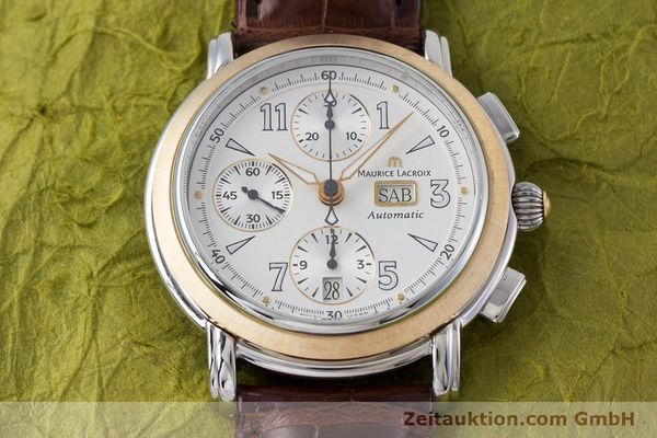 Used luxury watch Maurice Lacroix Masterpiece chronograph steel / gold automatic Kal. ML67 ETA 7750 Ref. 67839  | 153605 17