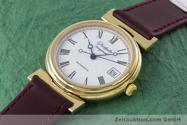 Used luxury watch Glashütte * gold-plated automatic Kal. GUB 10-30  | 153616 01