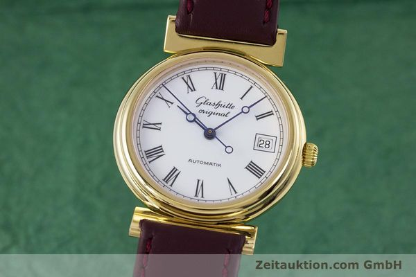 Used luxury watch Glashütte * gold-plated automatic Kal. GUB 10-30  | 153616 04