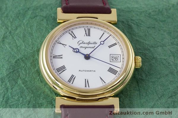 Used luxury watch Glashütte * gold-plated automatic Kal. GUB 10-30  | 153616 14