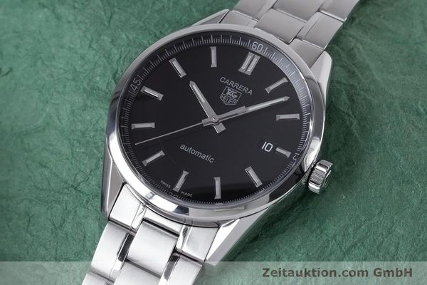 Used luxury watch Tag Heuer Carrera steel automatic Kal. 5 ETA 2824-2 Ref. WV211B1  | 153621 01