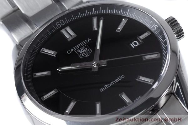 Used luxury watch Tag Heuer Carrera steel automatic Kal. 5 ETA 2824-2 Ref. WV211B1  | 153621 02