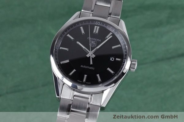 Used luxury watch Tag Heuer Carrera steel automatic Kal. 5 ETA 2824-2 Ref. WV211B1  | 153621 04