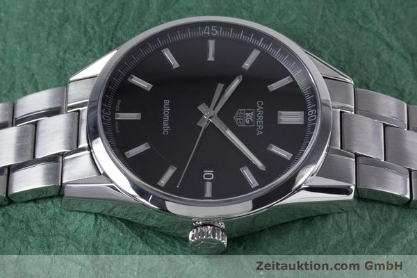 Used luxury watch Tag Heuer Carrera steel automatic Kal. 5 ETA 2824-2 Ref. WV211B1  | 153621 05