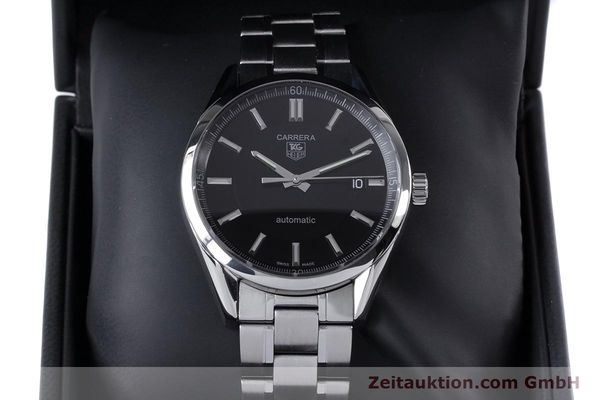 Used luxury watch Tag Heuer Carrera steel automatic Kal. 5 ETA 2824-2 Ref. WV211B1  | 153621 07
