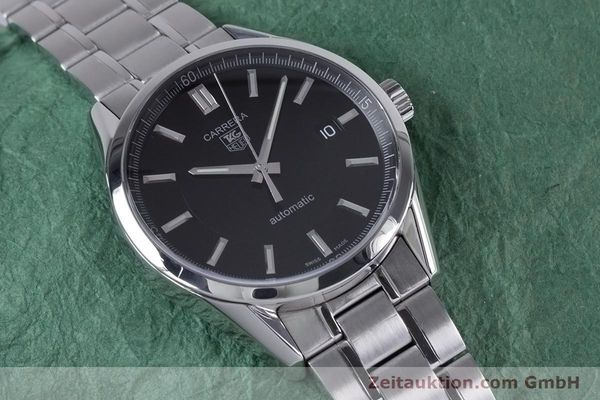 Used luxury watch Tag Heuer Carrera steel automatic Kal. 5 ETA 2824-2 Ref. WV211B1  | 153621 13