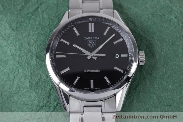 Used luxury watch Tag Heuer Carrera steel automatic Kal. 5 ETA 2824-2 Ref. WV211B1  | 153621 14