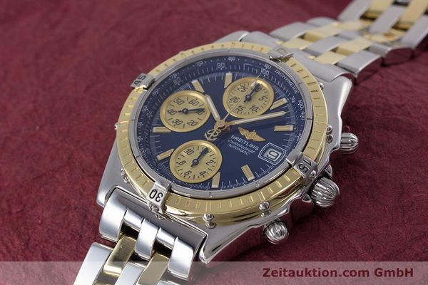 Used luxury watch Breitling Chronomat chronograph steel / gold automatic Kal. B13 ETA 7750 Ref. D13050.1  | 153624 01