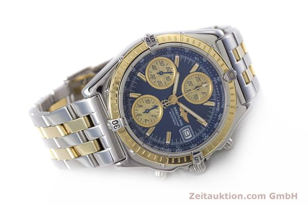 Used luxury watch Breitling Chronomat chronograph steel / gold automatic Kal. B13 ETA 7750 Ref. D13050.1  | 153624 03