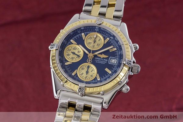 Used luxury watch Breitling Chronomat chronograph steel / gold automatic Kal. B13 ETA 7750 Ref. D13050.1  | 153624 04
