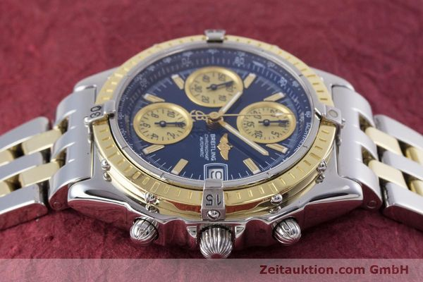 Used luxury watch Breitling Chronomat chronograph steel / gold automatic Kal. B13 ETA 7750 Ref. D13050.1  | 153624 05