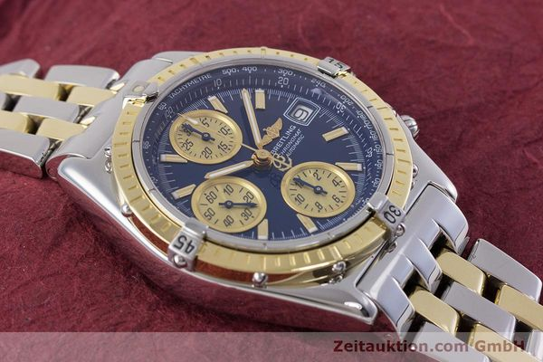 Used luxury watch Breitling Chronomat chronograph steel / gold automatic Kal. B13 ETA 7750 Ref. D13050.1  | 153624 15