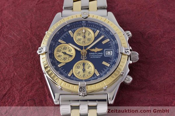Used luxury watch Breitling Chronomat chronograph steel / gold automatic Kal. B13 ETA 7750 Ref. D13050.1  | 153624 16