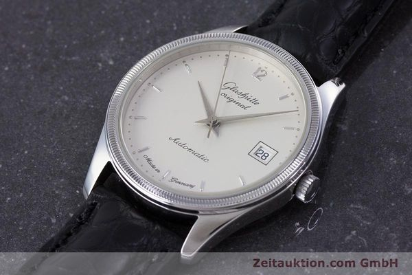 Used luxury watch Glashütte Senator steel automatic Kal. GUB 10-30  | 153625 01