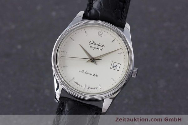 Used luxury watch Glashütte Senator steel automatic Kal. GUB 10-30  | 153625 04