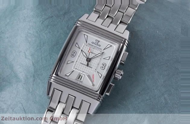 Used luxury watch Jaeger Le Coultre Reverso chronograph steel manual winding Ref. 295.8.59  | 153632 01
