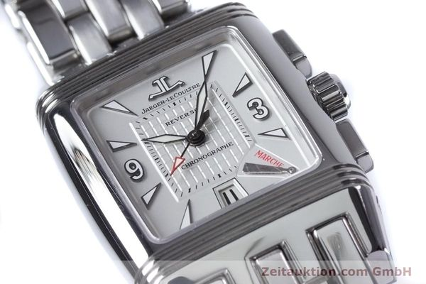 Used luxury watch Jaeger Le Coultre Reverso chronograph steel manual winding Ref. 295.8.59  | 153632 02
