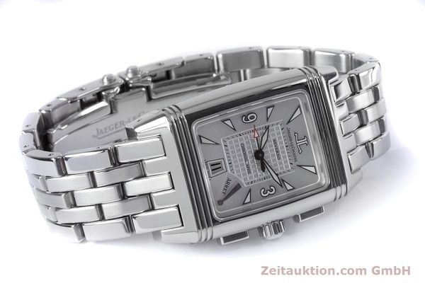 Used luxury watch Jaeger Le Coultre Reverso chronograph steel manual winding Ref. 295.8.59  | 153632 03