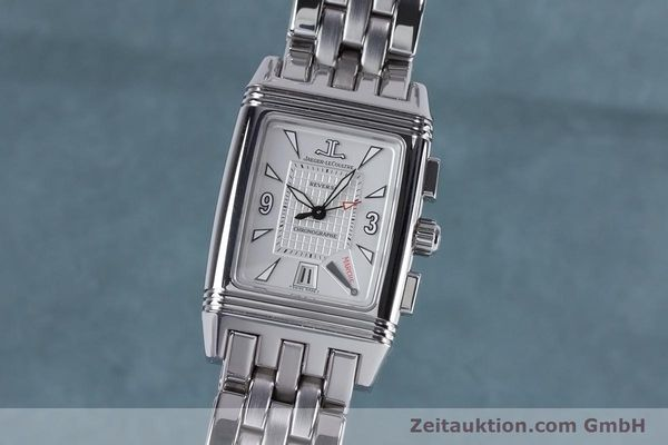 Used luxury watch Jaeger Le Coultre Reverso chronograph steel manual winding Ref. 295.8.59  | 153632 04