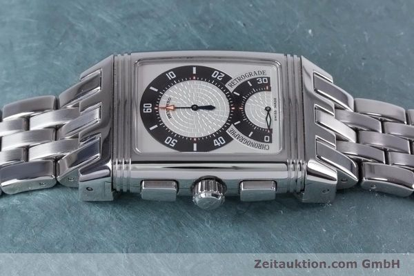 Used luxury watch Jaeger Le Coultre Reverso chronograph steel manual winding Ref. 295.8.59  | 153632 05