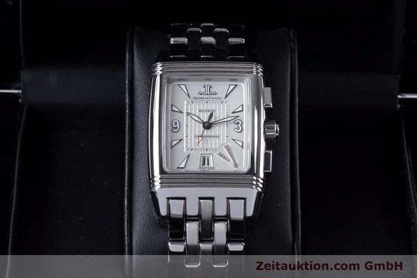 Used luxury watch Jaeger Le Coultre Reverso chronograph steel manual winding Ref. 295.8.59  | 153632 07
