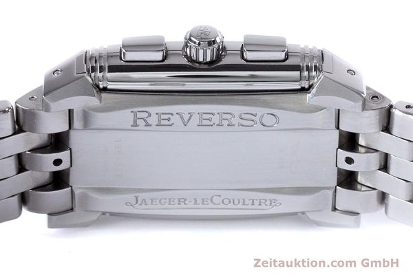 Used luxury watch Jaeger Le Coultre Reverso chronograph steel manual winding Ref. 295.8.59  | 153632 09
