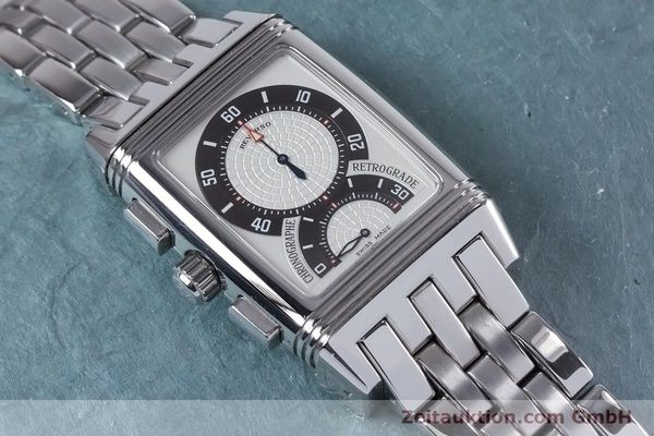 Used luxury watch Jaeger Le Coultre Reverso chronograph steel manual winding Ref. 295.8.59  | 153632 12