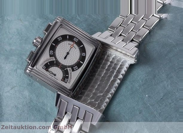 Used luxury watch Jaeger Le Coultre Reverso chronograph steel manual winding Ref. 295.8.59  | 153632 13