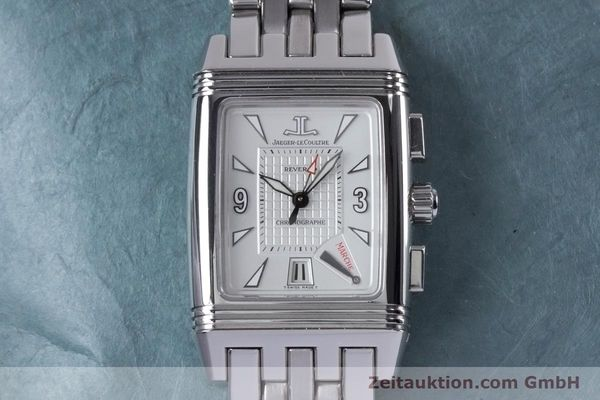 Used luxury watch Jaeger Le Coultre Reverso chronograph steel manual winding Ref. 295.8.59  | 153632 14