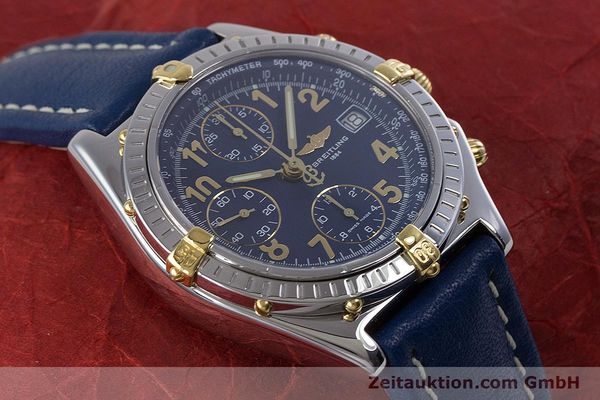 Used luxury watch Breitling Chronomat chronograph steel / gold automatic Kal. B13 ETA 7750 Ref. B13050.1  | 153634 15