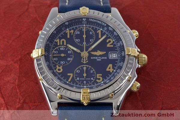 Used luxury watch Breitling Chronomat chronograph steel / gold automatic Kal. B13 ETA 7750 Ref. B13050.1  | 153634 16
