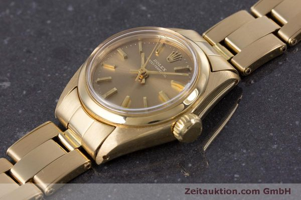 Used luxury watch Rolex Oyster Perpetual 18 ct gold automatic Kal. 2030 Ref. 6719 VINTAGE  | 153642 01