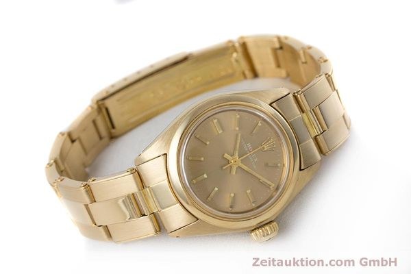 Used luxury watch Rolex Oyster Perpetual 18 ct gold automatic Kal. 2030 Ref. 6719 VINTAGE  | 153642 03