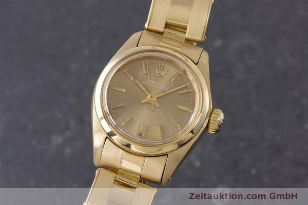 Used luxury watch Rolex Oyster Perpetual 18 ct gold automatic Kal. 2030 Ref. 6719 VINTAGE  | 153642 04