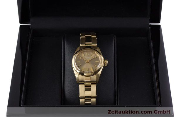 Used luxury watch Rolex Oyster Perpetual 18 ct gold automatic Kal. 2030 Ref. 6719 VINTAGE  | 153642 07