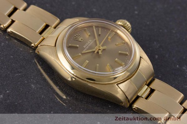 Used luxury watch Rolex Oyster Perpetual 18 ct gold automatic Kal. 2030 Ref. 6719 VINTAGE  | 153642 15