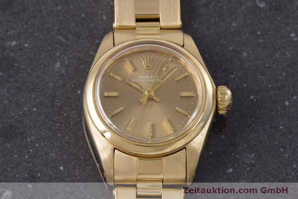 Used luxury watch Rolex Oyster Perpetual 18 ct gold automatic Kal. 2030 Ref. 6719 VINTAGE  | 153642 16