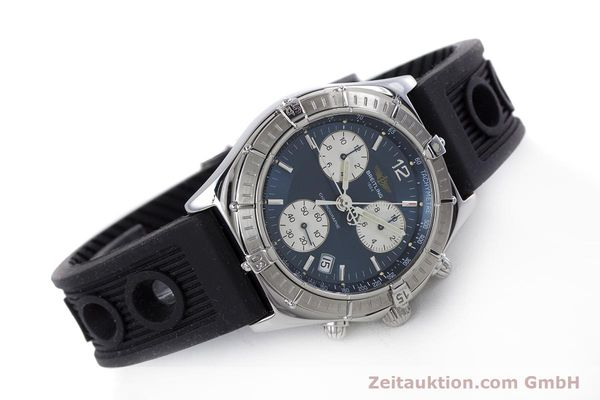 Used luxury watch Breitling Sirius chronograph steel quartz Kal. B53 ETA 251262 Ref. A53011  | 153647 03