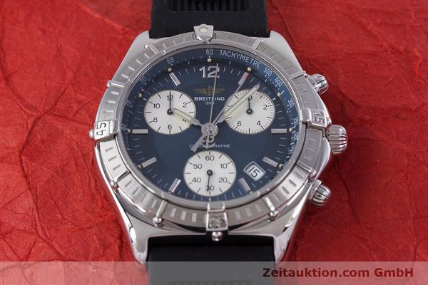 Used luxury watch Breitling Sirius chronograph steel quartz Kal. B53 ETA 251262 Ref. A53011  | 153647 13
