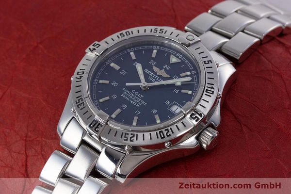 Used luxury watch Breitling Colt steel automatic Kal. B17 ETA 2824-2 Ref. A17350  | 153657 01