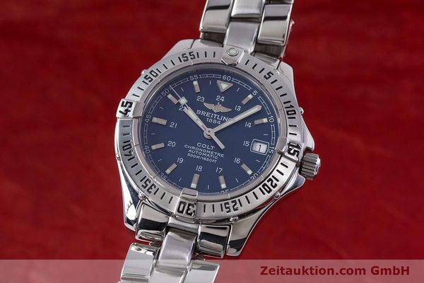 Used luxury watch Breitling Colt steel automatic Kal. B17 ETA 2824-2 Ref. A17350  | 153657 04