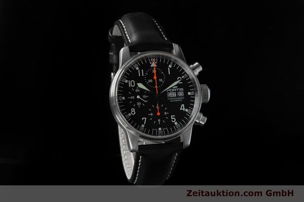 Used luxury watch Fortis Flieger Chronograph chronograph steel automatic Ref. 597.11.141.1  | 153659 01